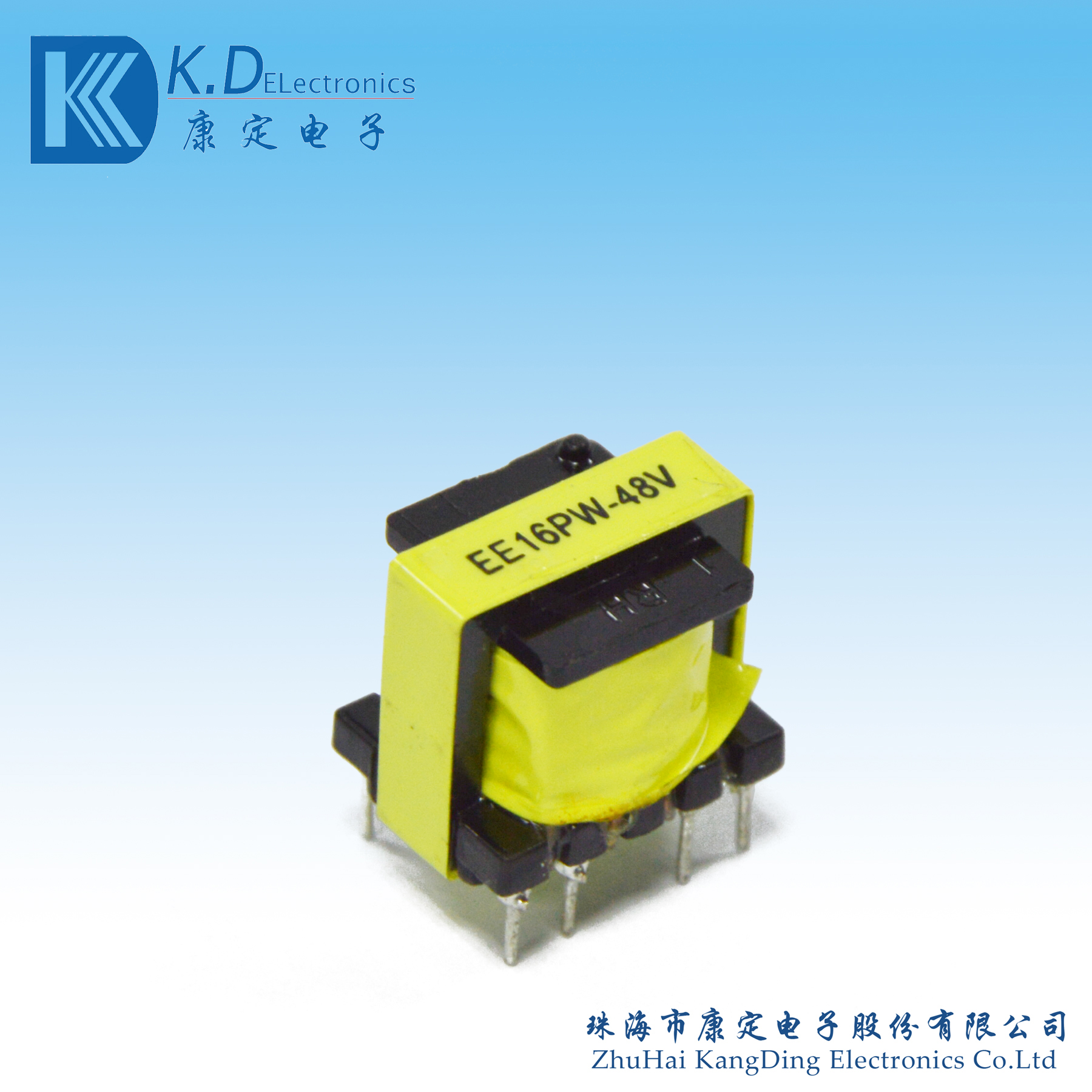 High frequency transformer EE16PW-48V